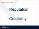 Trust Credibility and Reputation in eAuctions